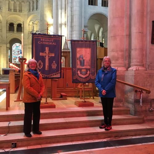 L-R Valerie Ash, former Connor Diocesan President and  June Butler, All Ireland President