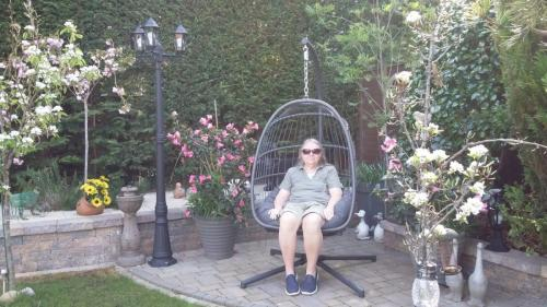 Wendy WhiteRelaxing as husband Will mows the grass